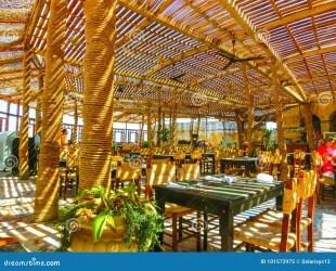 egypt luxury hotel beach restaurant sharm sheikh september egypte bij luxehotel openluchtrestaurant strand het resting interior