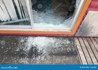 Shattered Glass Sliding Door Stock Photo - Image: 58474986