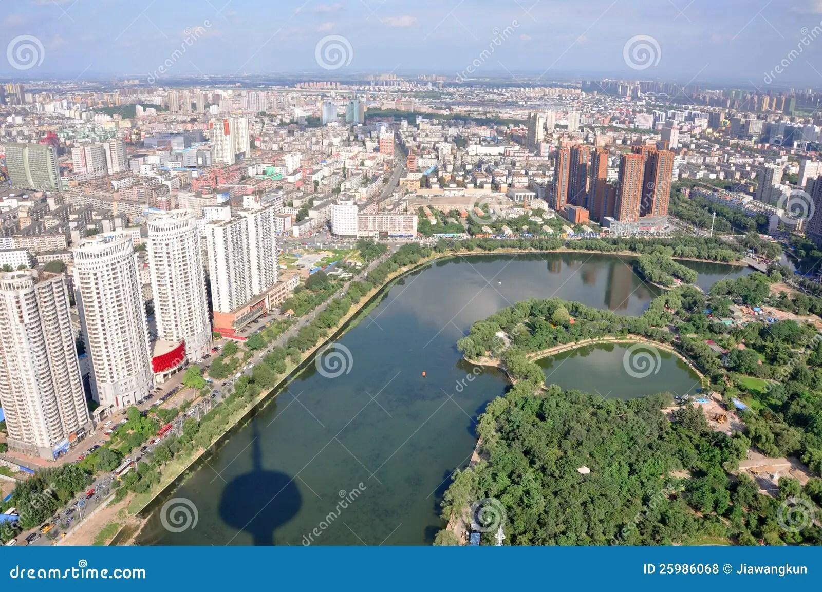 Shenyang City Skyline Liaoning China Royalty Free Stock