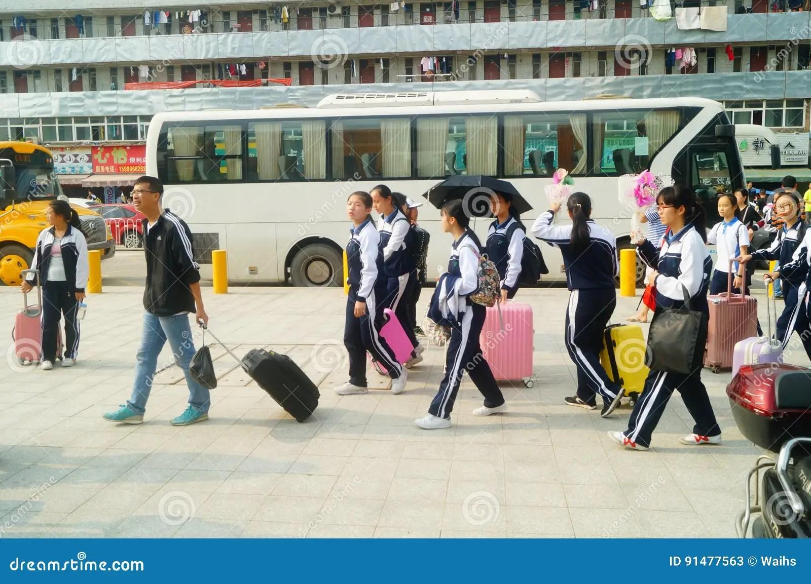 Shenzhen China High School Students Return To School