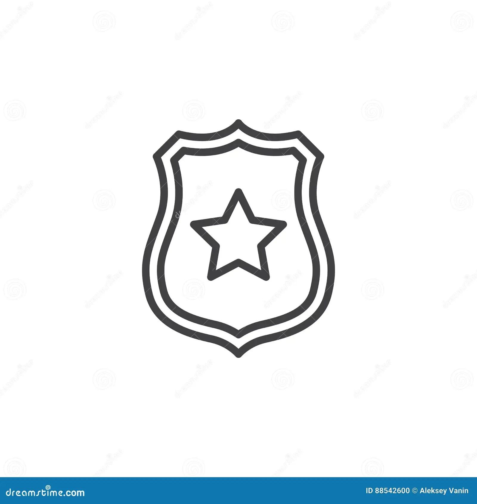 Sheriff Star Badge Vector Vector Illustration