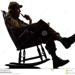 Free Rocking Chair Plans Glider Rocker Covers Sherlock Holmes Reading Silhouette Stock Image - Image: 34501993