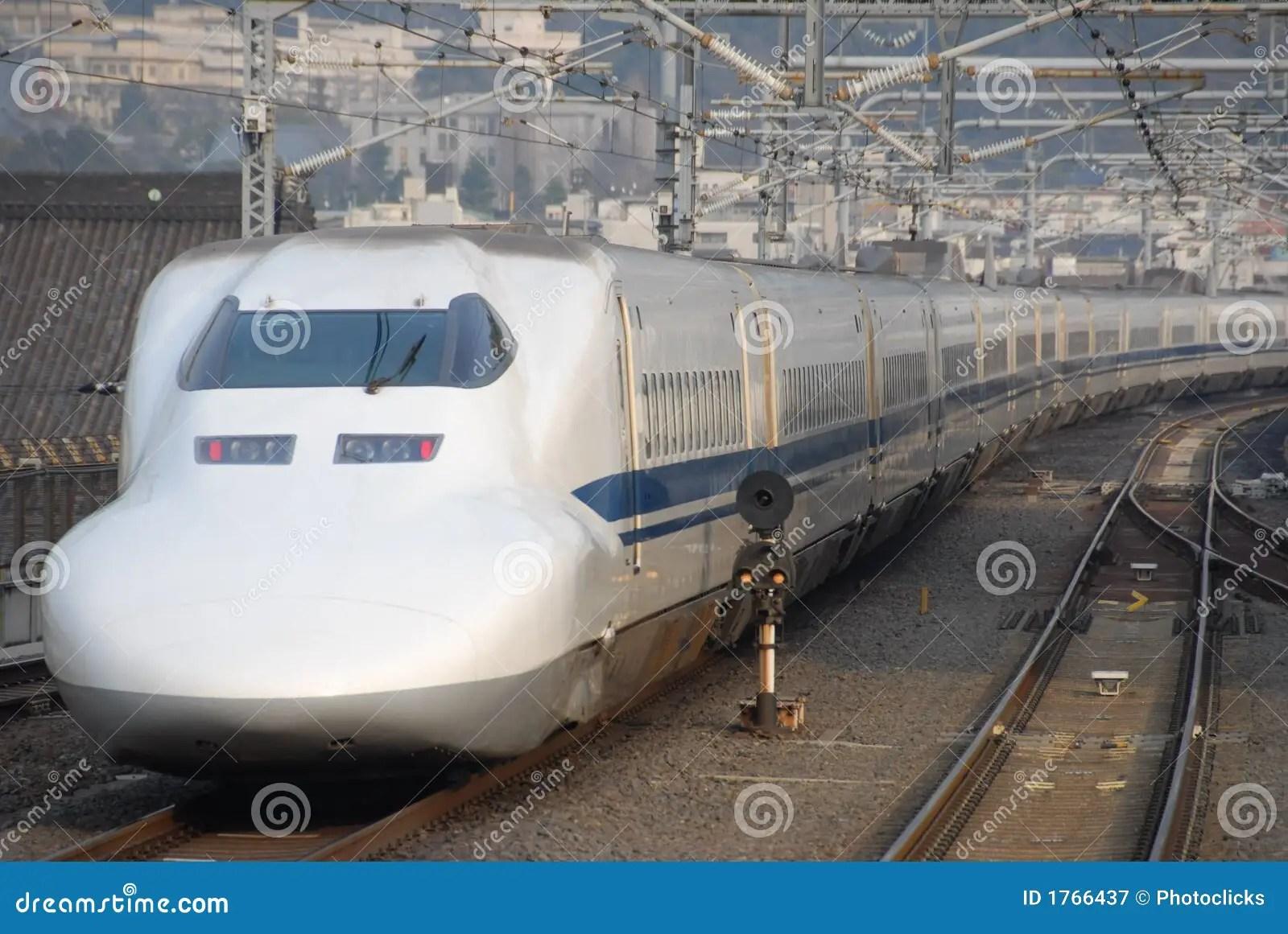 Shinkansen Bullet Train In Japan Stock Image