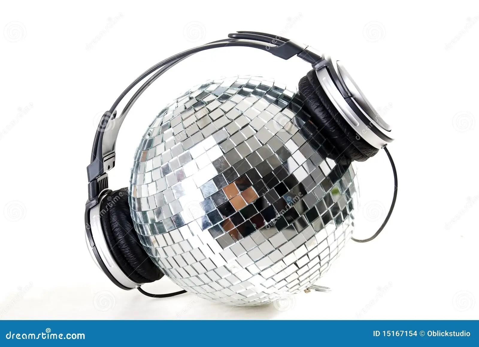 Shiny Disco Glitter Balls Background Royalty Free Stock