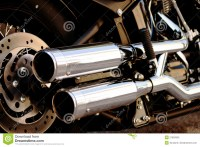 Shiny Motorcycle Double Exhaust Pipe Stock Image - Image ...