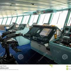 Boat Captains Chair Christmas Full Covers Ship Bridge Stock Photo Image Of Marine Control