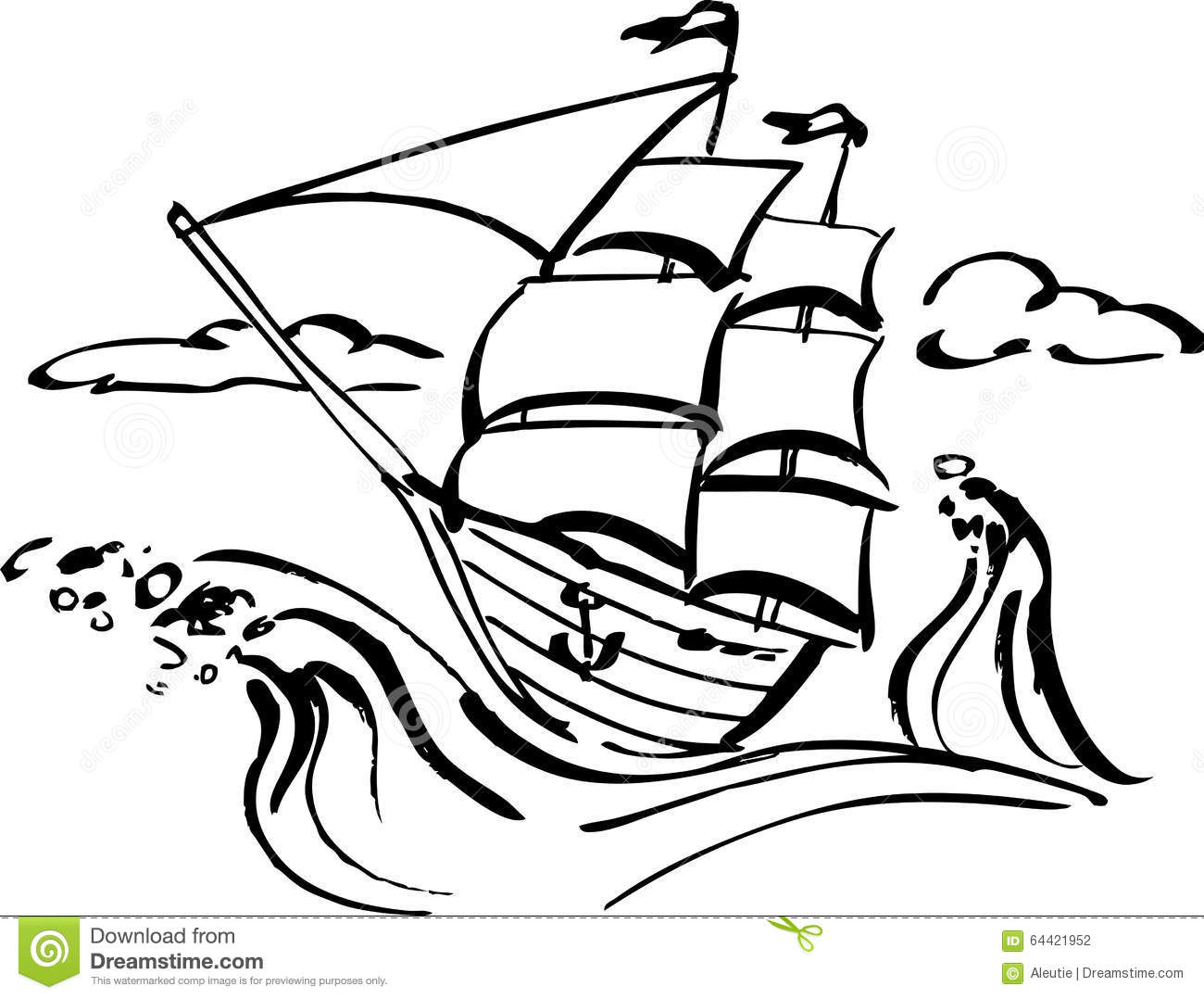 Ship In Storm Clip Art Cliparts