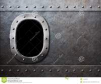 Ship Or Submarine Window Steam Punk Metal Background Stock ...