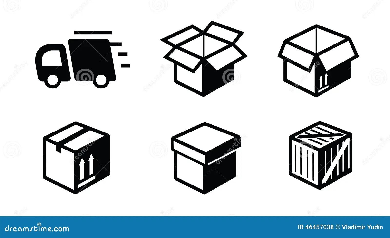 Shipping Icon Stock Vector Illustration Of Black