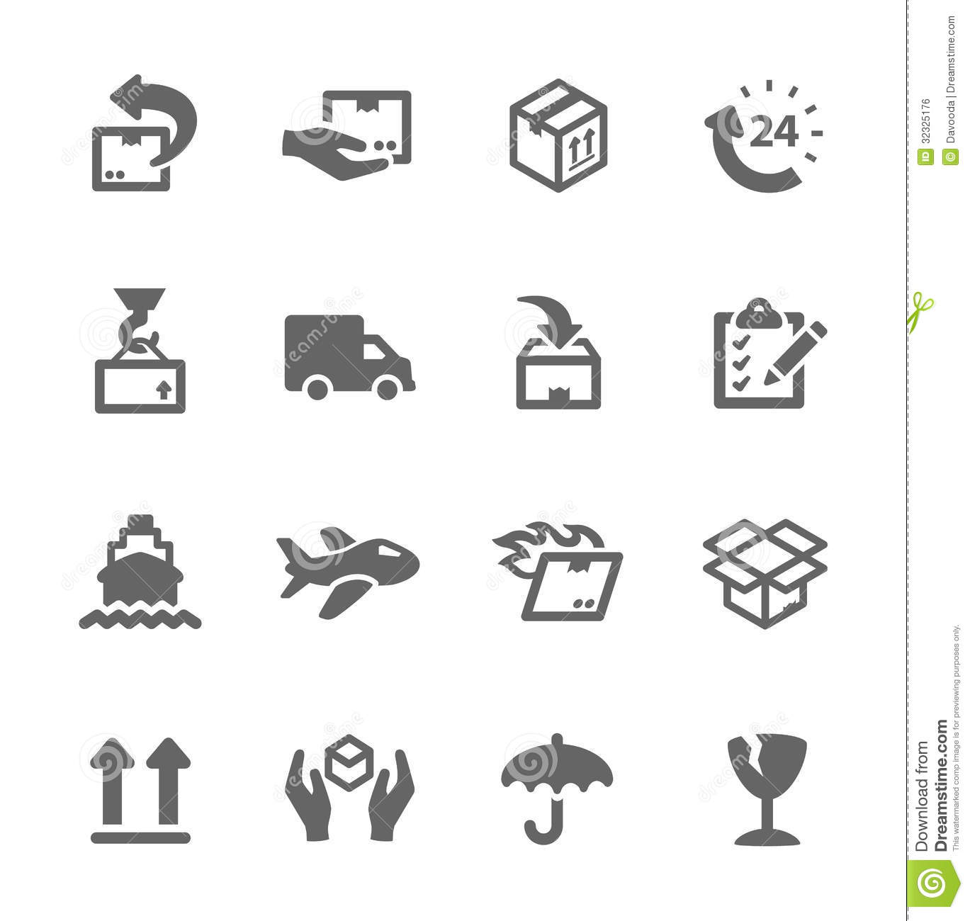 Shipping Icons Stock Vector Image Of Package Clip