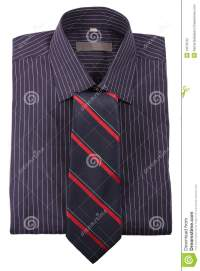 Shirt In Strip With Tie Stock Photography - Image: 13578722
