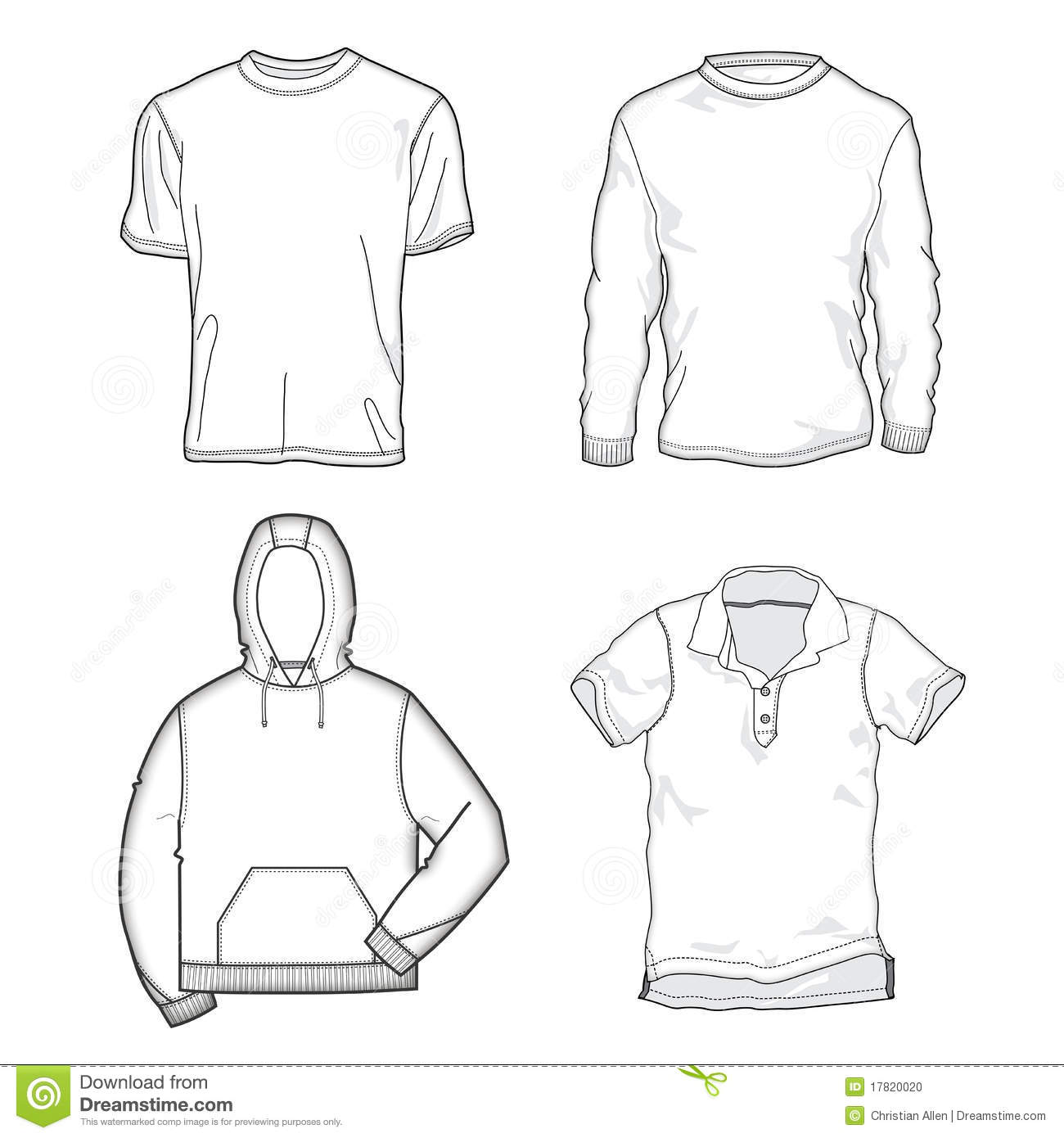 Shirt Templates Stock Vector Illustration Of Outfit