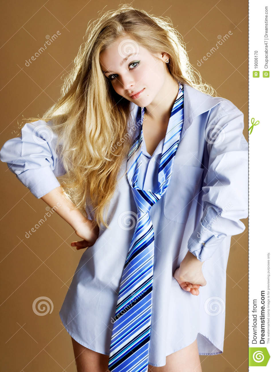 Shirt And Tie Girl Stock Photo  Image 19006170