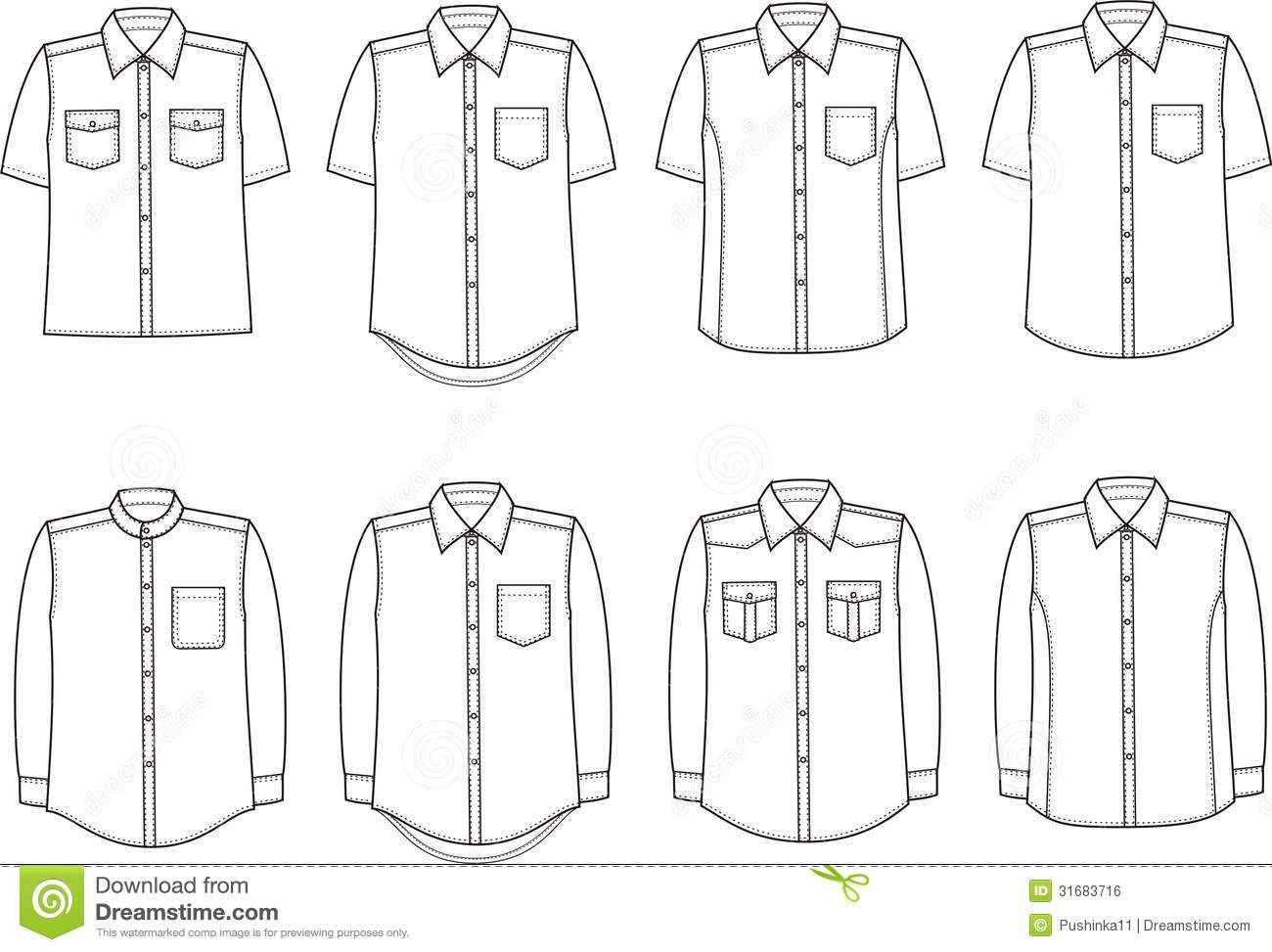 Shirts Stock Vector Illustration Of Package Modern