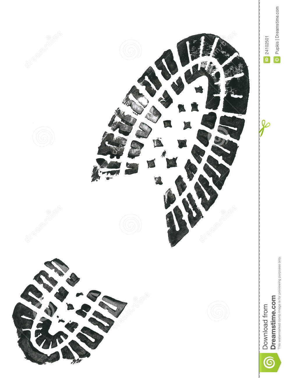 Foot Print And Shoe Print Royalty-Free Stock Image