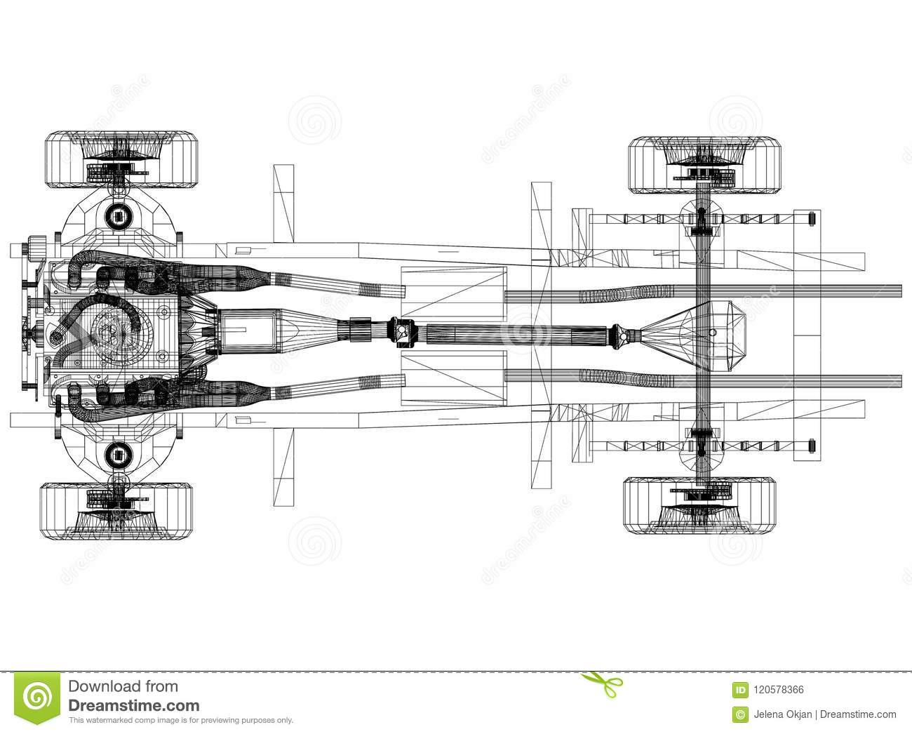 Car Chassis And Engine Design A Blueprint