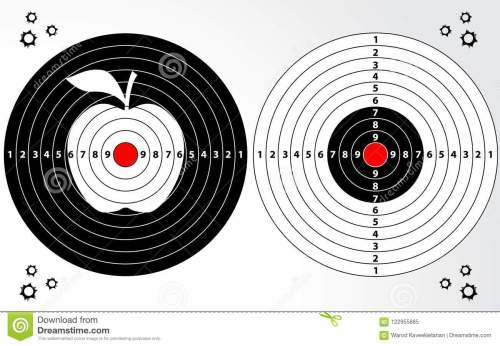 small resolution of set of target shooting range dart board