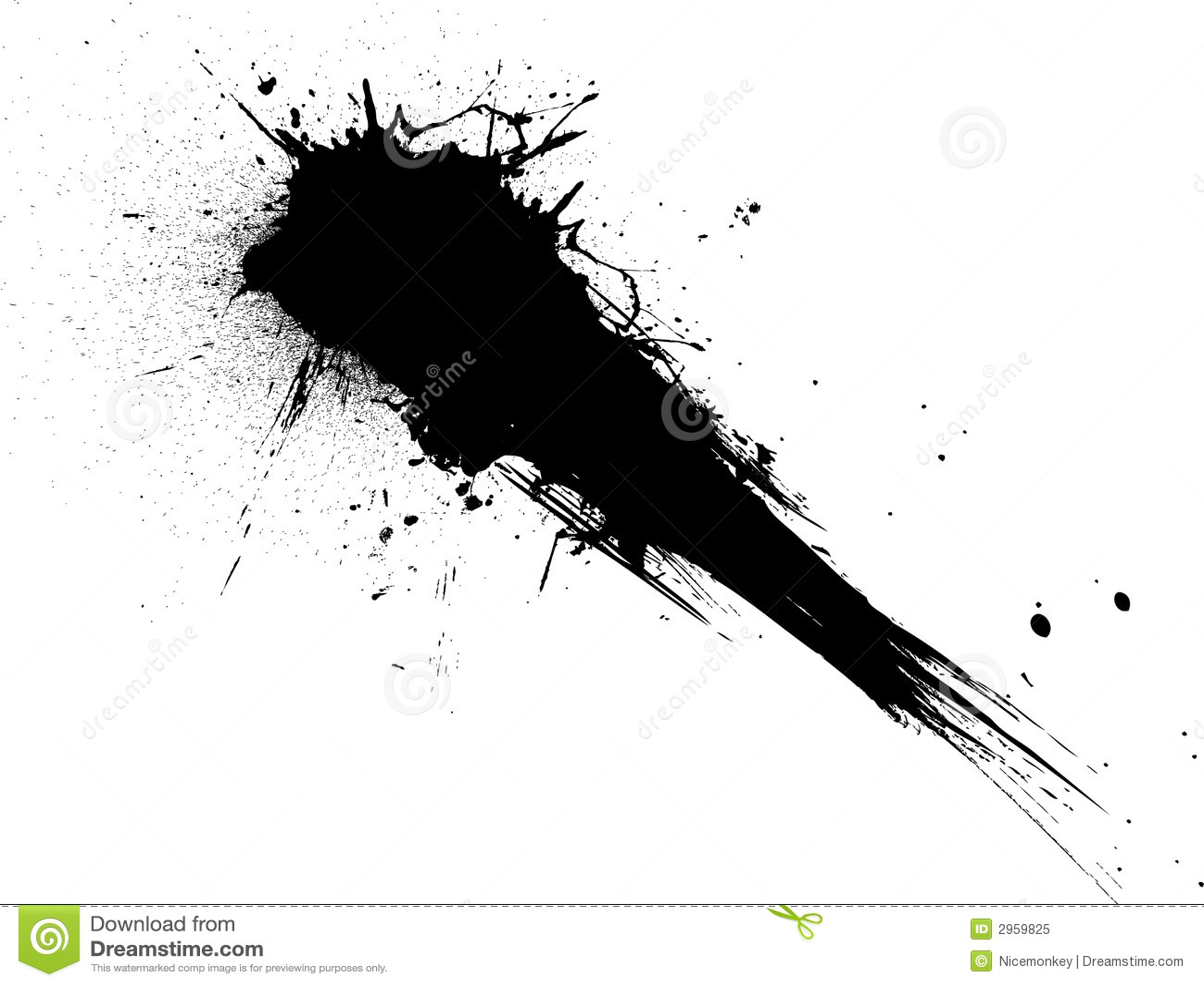 Shooting Splat Stock Vector Illustration Of Silhouette