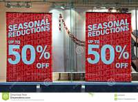 Shop Window Display In The Christmas Sales Stock Photo ...
