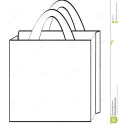 Outline Grocery Bag Clipart