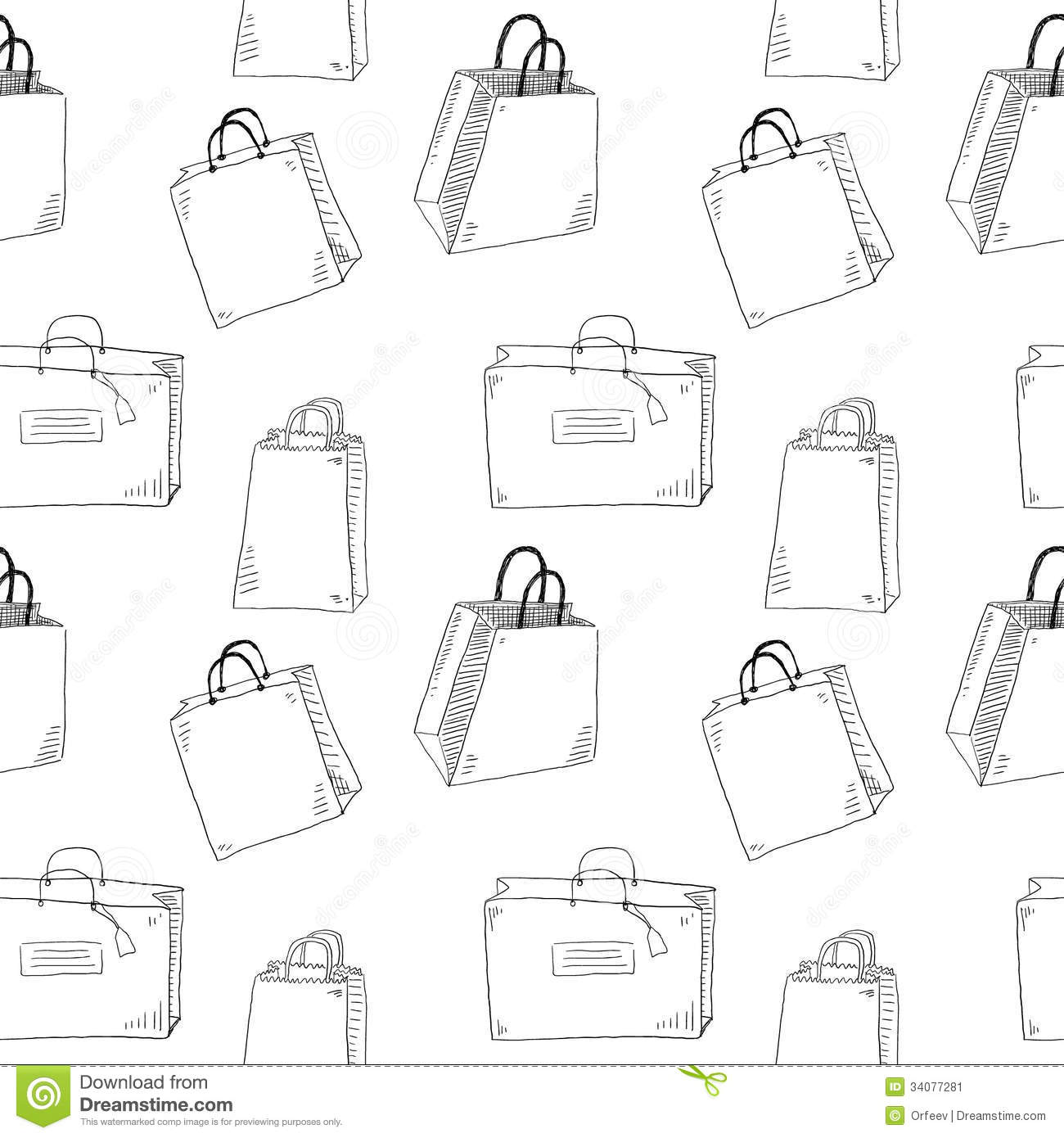 Shopping bags stock vector. Illustration of doodle
