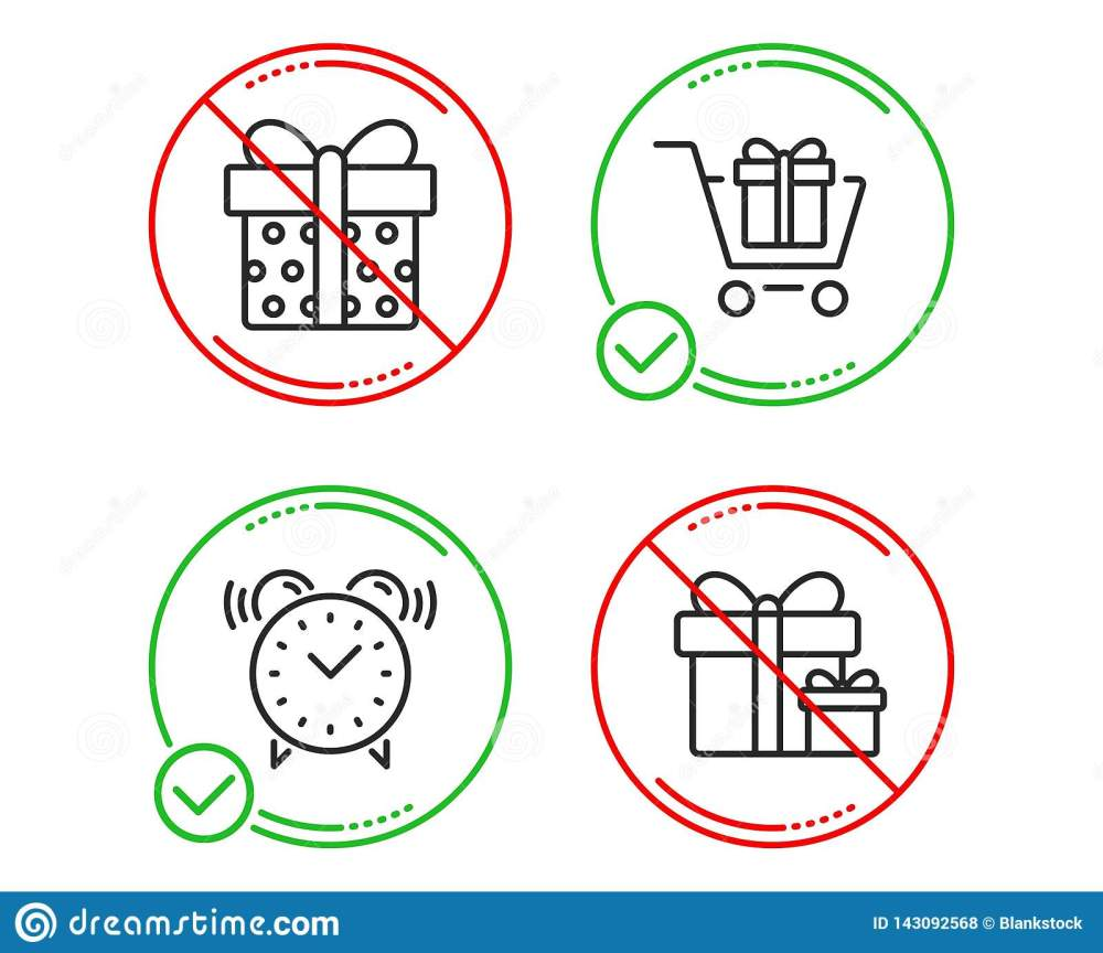 medium resolution of shopping cart gift box and alarm clock icons simple set surprise package sign gift box present package time present boxes line shopping cart do icon