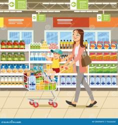 shopping vector cartoon concept illustration preview