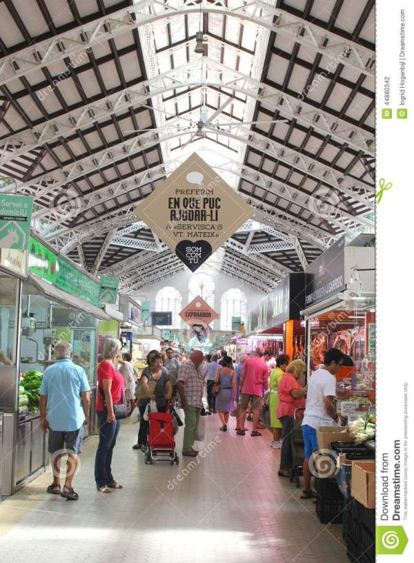 Shopping In Central Market Art Nouveau Style