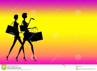 ladies shopping background illustration preview dreamstime