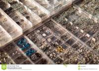Shopwindow With Body Piercing Jewelry Stock Photo - Image ...