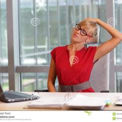Sitting Posture On Chair In Office Antique Leather Short Break For Exercise Stock Photo - Image: 59212510