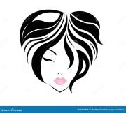 short hair style icon logo women
