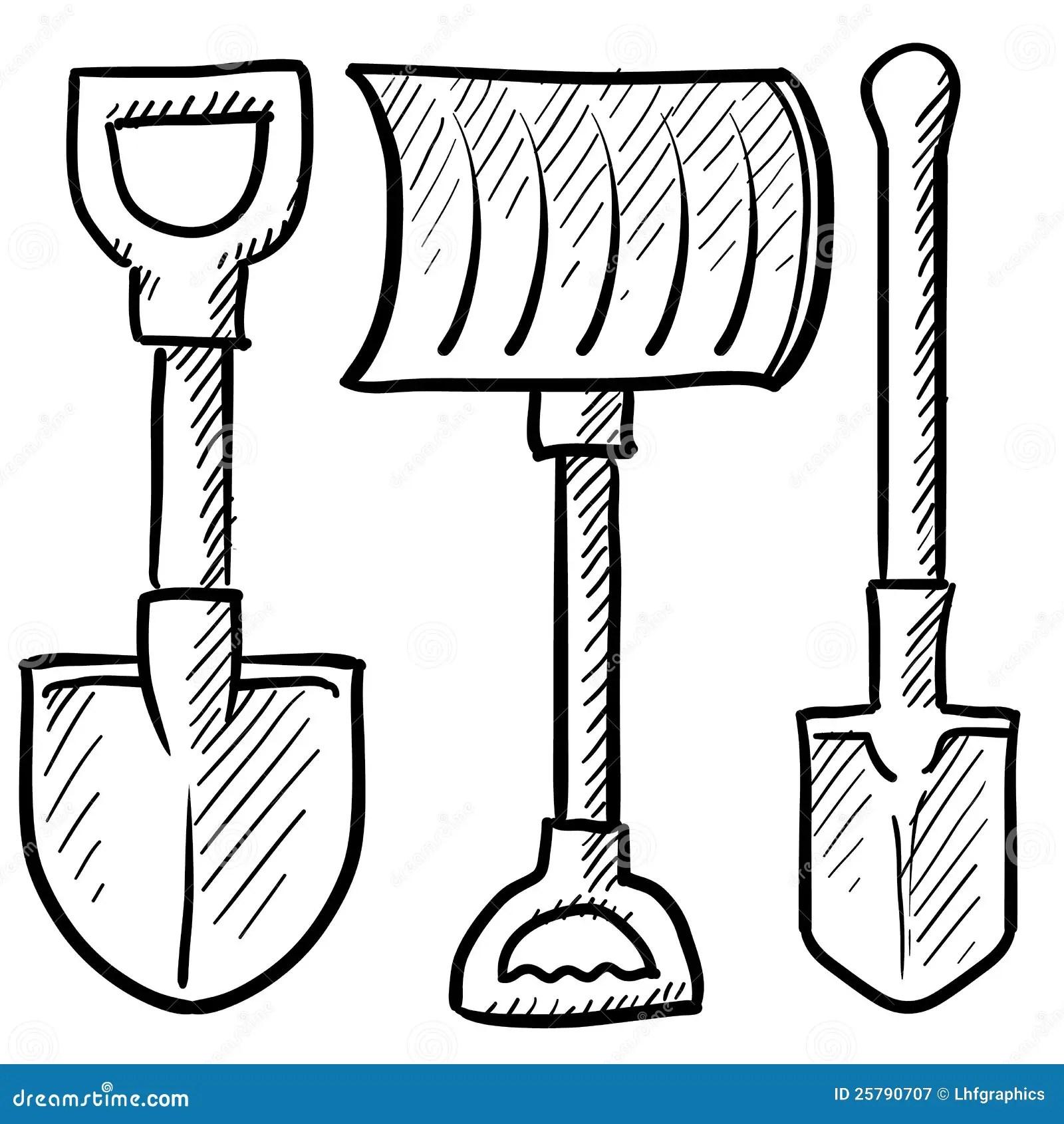 Shovels Assortment Vector Royalty Free Stock Photography