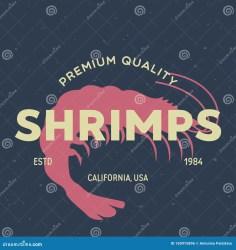 shrimp restaurant seafood sticker label meat icon print illustration