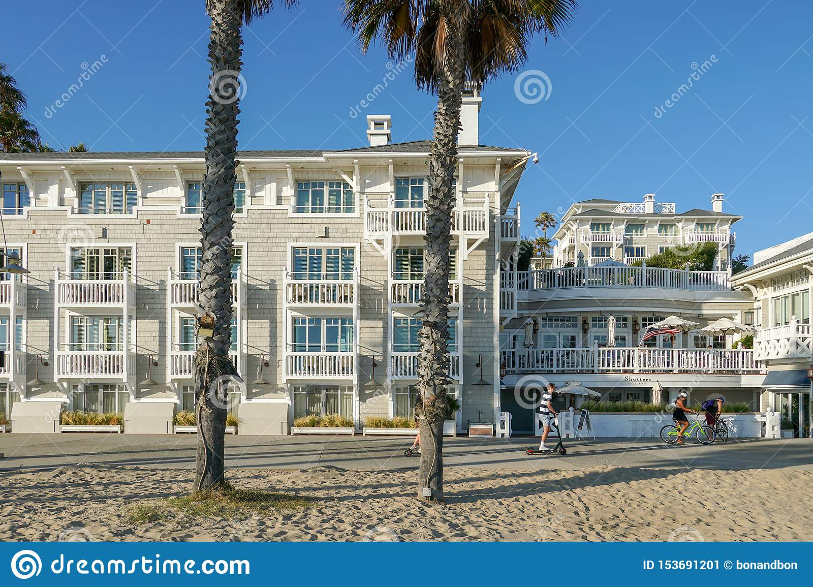 This is a very nice restaurant overlooking the beach. Shutters On The Beach Hotel On Santa Monica Editorial Photo Image Of Building Patio 153691201