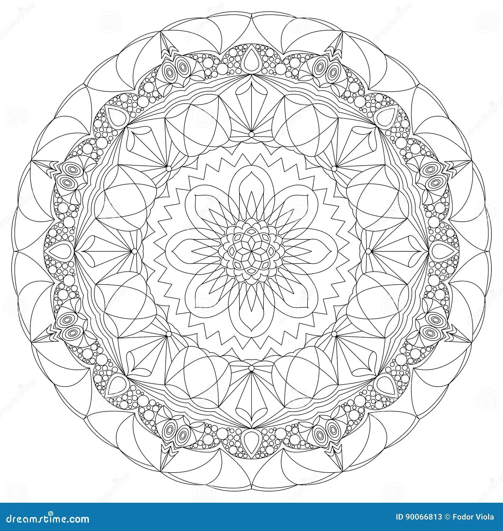 Sida For Farglaggning For Harlig Cirkelmandala Vuxen