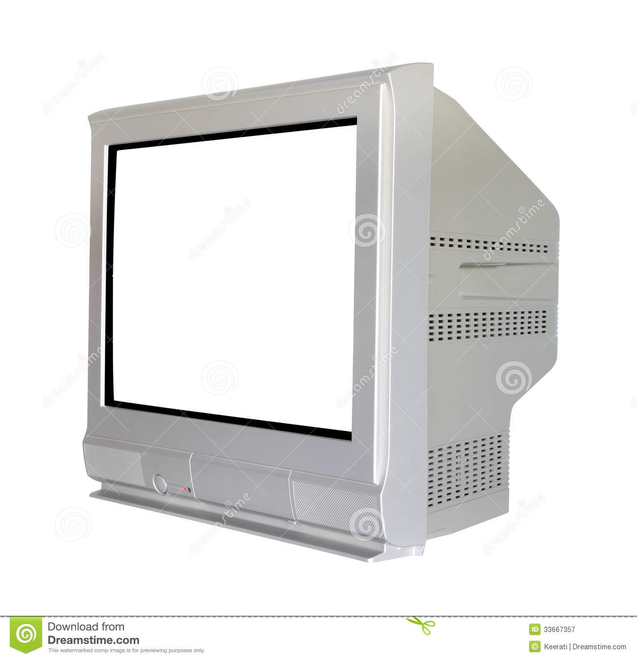 Sideog Cathode Ray Tube Television Royalty Free Stock