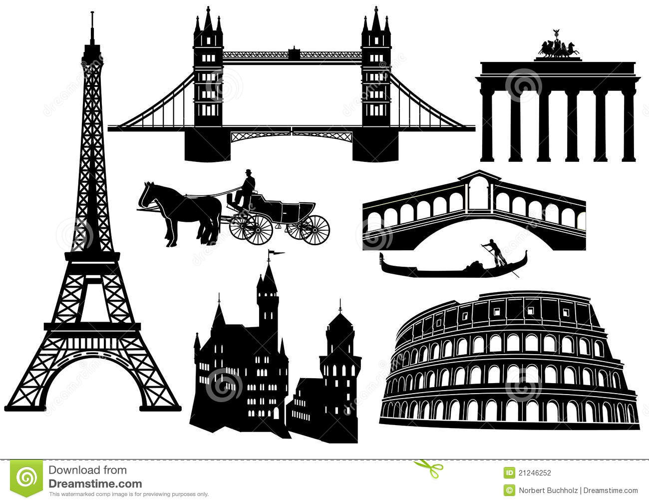 Sights In Europe Stock Photography