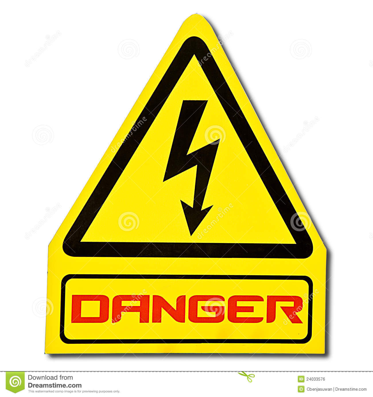 The Sign Of Danger Of Electricity Stock Photo