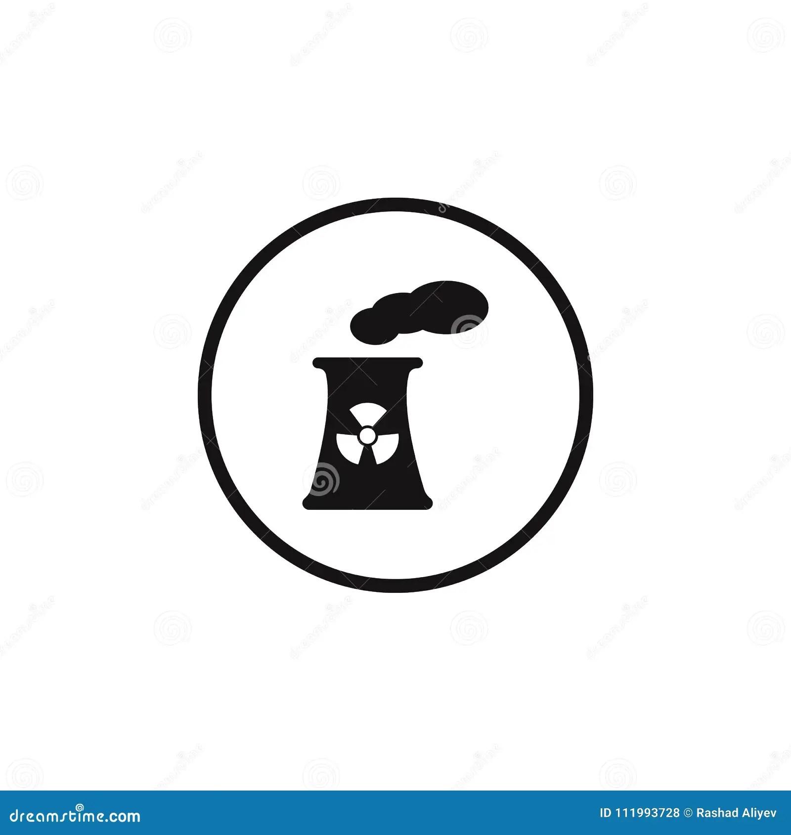 Sign Dangerous Nuclear Power Plant Icon. Element Of Danger