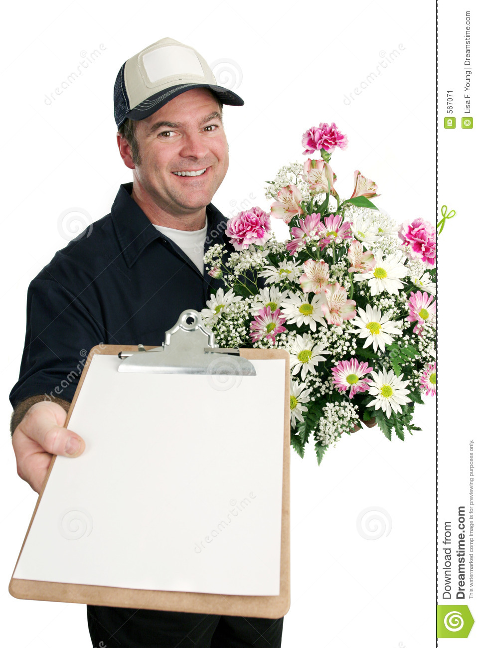 sign for flower delivery