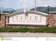 Sign Of Stanley Hotel Editorial