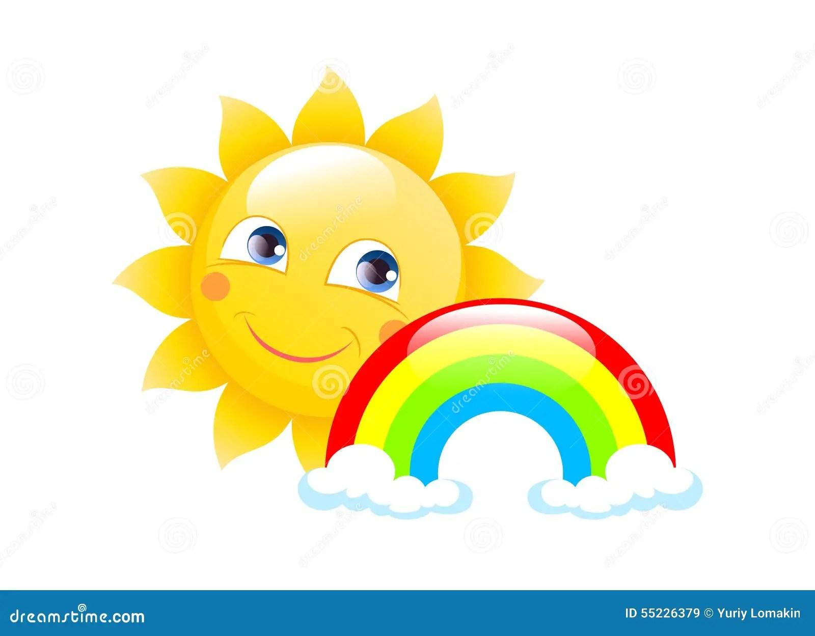 Sun Logo On A White Background Stock Illustration