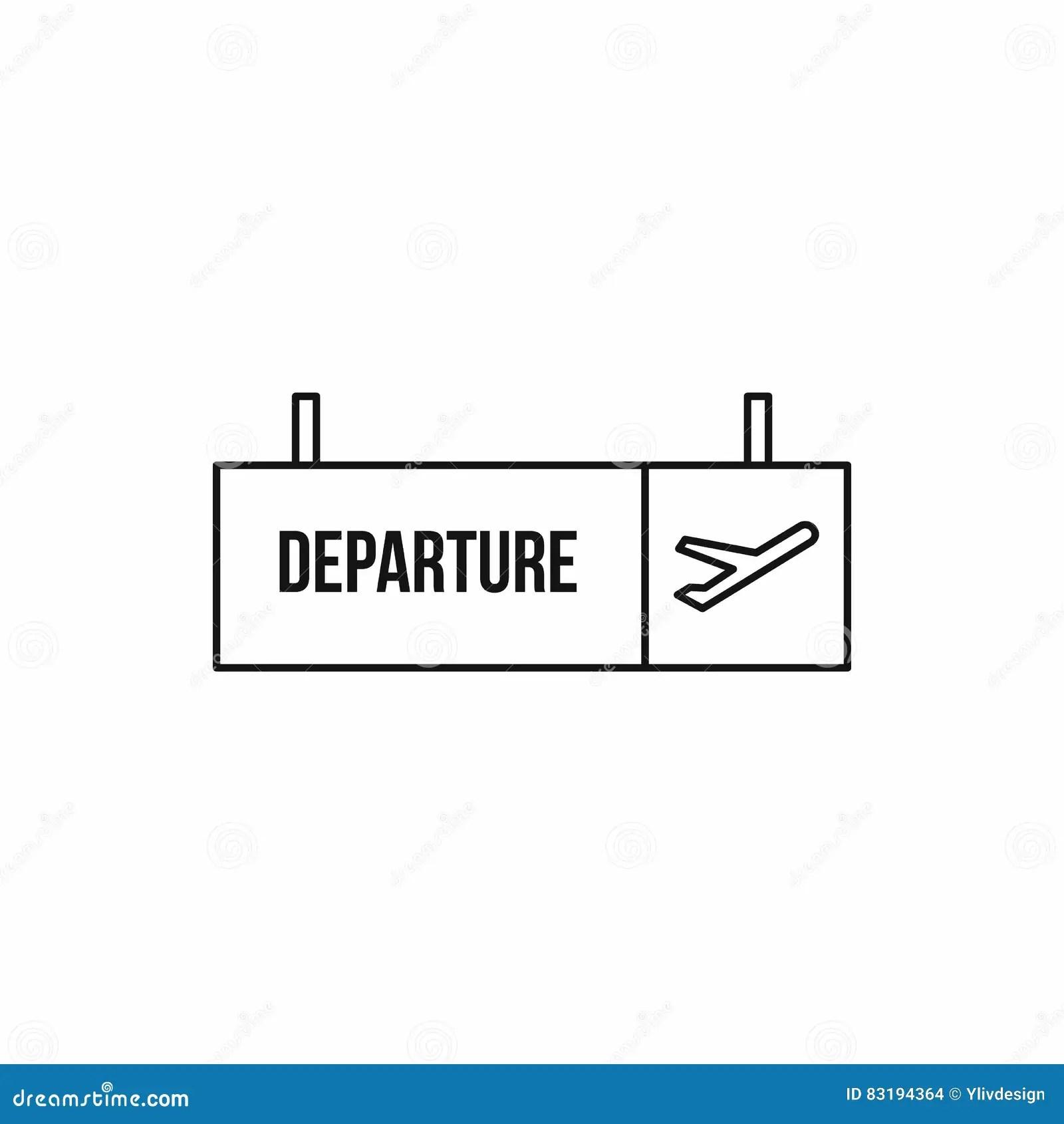 signe de depart a l icone d aeroport style d ensemble