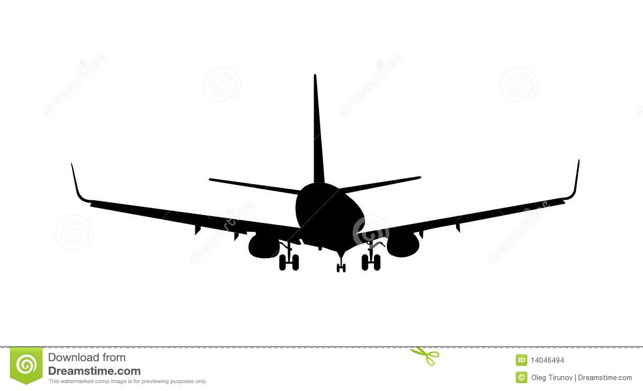 Silhouette Of Aircraft Stock Vector Illustration Of