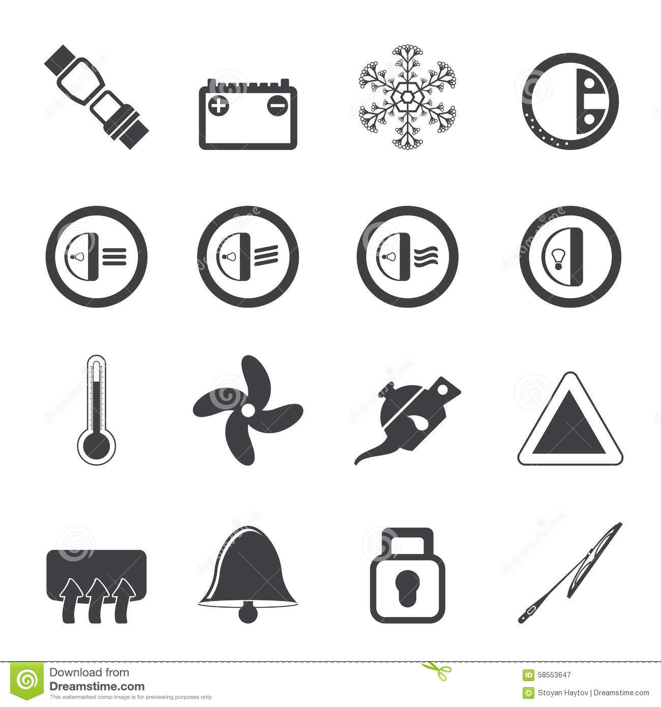 Dashboard Icons Vector Illustration