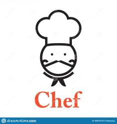 simplicity silhouette symbol chef restaurant vector