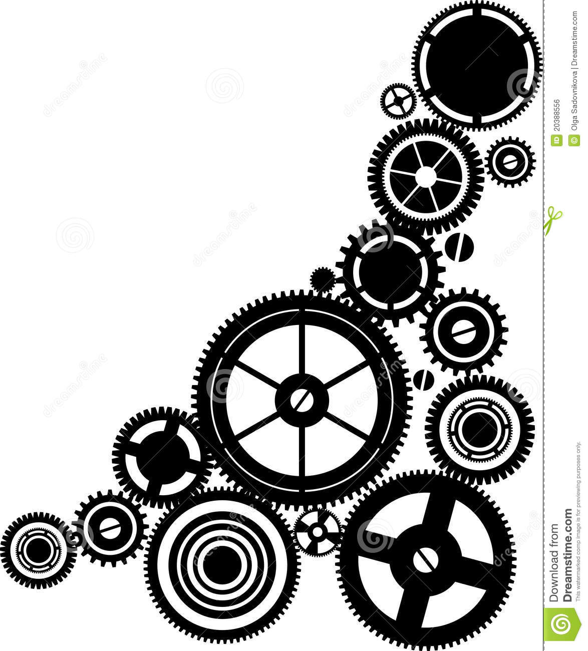 Silhouette Clockwork Stock Vector Image Of Time