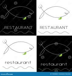 fish minimalist silhouette knife restaurant fork caviar