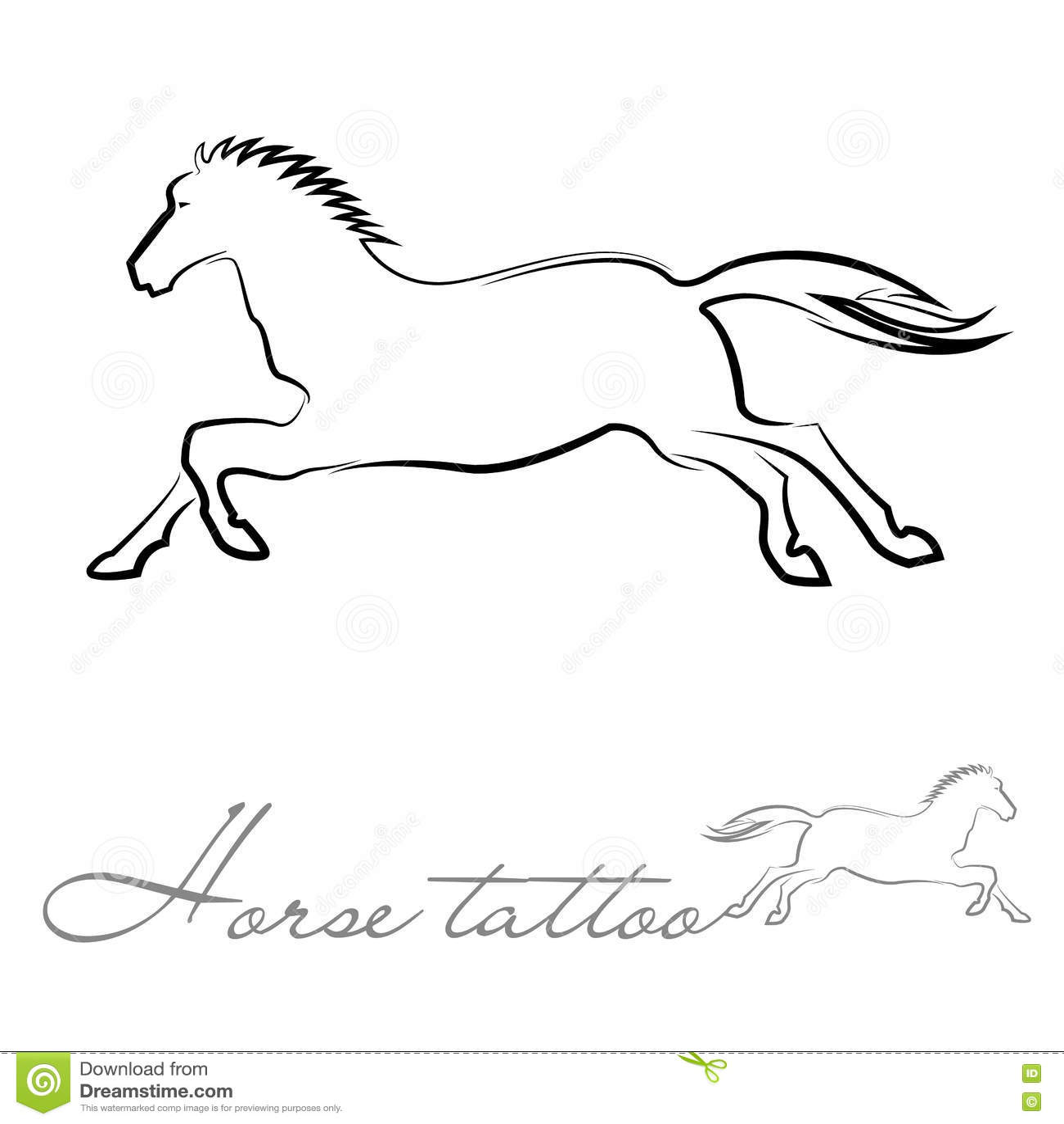 Horse Silhouette Logo Vector Illustration